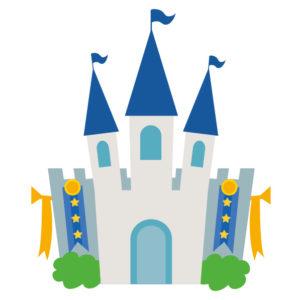 青い屋根のお城