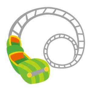 緑のジェットコースター