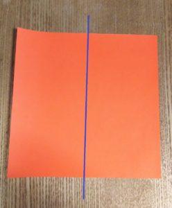 オレンジの折り紙