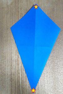 青い折り紙