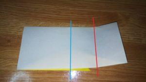 折られた黄色い折り紙