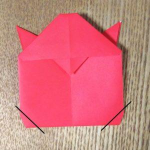 折り紙のテントウムシ