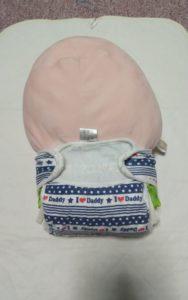新生児用布おむつの付け方