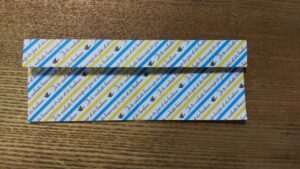 折った一枚の折り紙