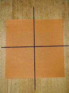 一枚の茶色い折り紙